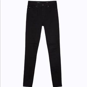AG The Mika Super High Rise Black Skinny Jeans